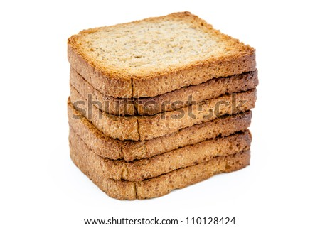 A pile os slices of toast