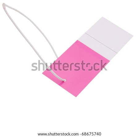 A pink tag symbolic