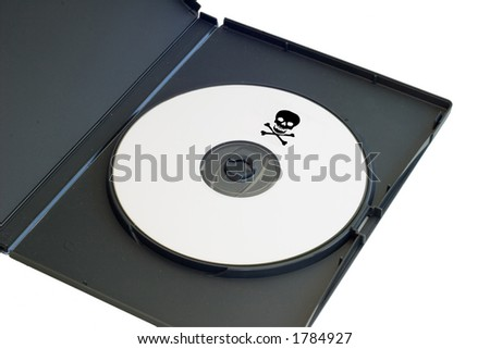 a pirated dvd with a clipping path