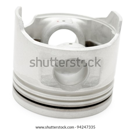 a piston - a spare part of an auto diesel engine