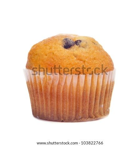 a plain cupcake on a white background