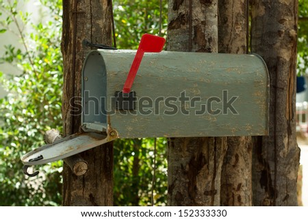 a plain grey Mailbox