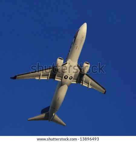 a plane in mid air
