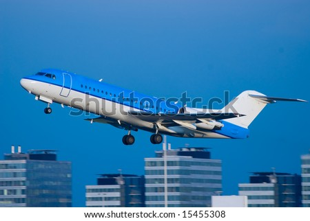 a plane take off at schiphol airport in amsterdam the netherlands