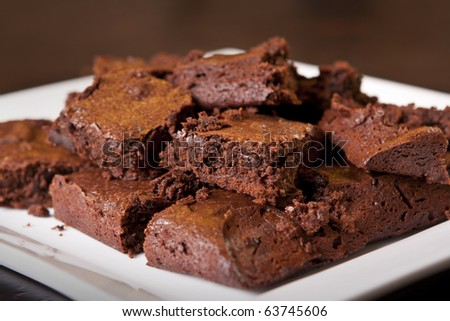 a plate of delicious brownies