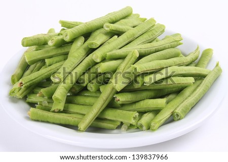 A plate of raw fresh beans