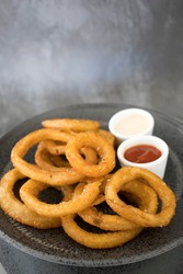 A Platter of Depp Fried Onion Rings