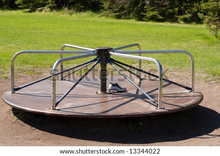 Vintage Playground Merry go Round For Sale a Playground Merry-go-round in