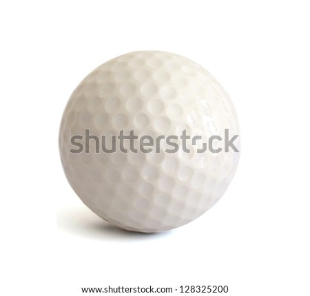A playing golf ball game
