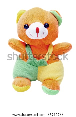 A plush Teddy Bear isolated on white