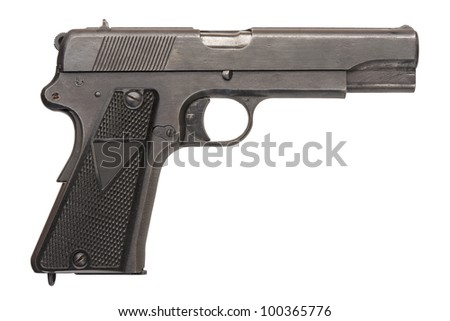 A Polish 9mm semi-automatic military pistol from World War Two.