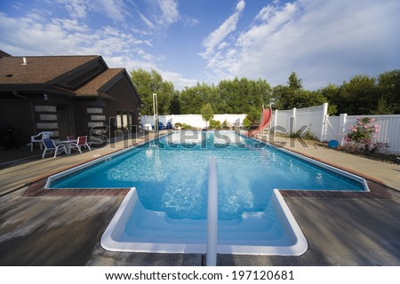 A Pool In An American House
