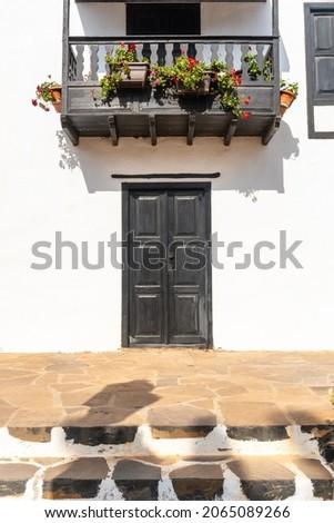 A portal of the municipality of Betancuria, west coast of the island of Fuerteventura, Canary Islands. Spain