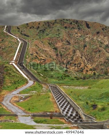 A portion of California's aqueduct near Los Angeles.