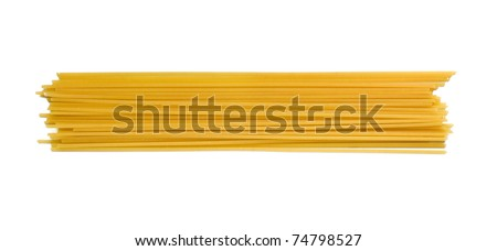 A portion of Spaghetti tube pasta isolated on white