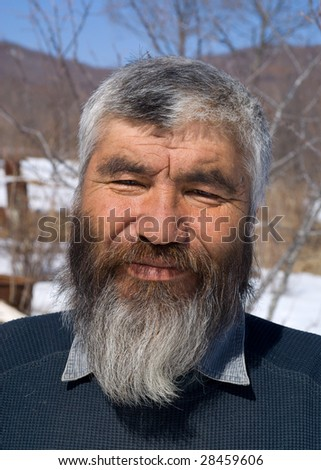 stock photo a portrait close up of the old men with grey beard small indigenous peope of russian far east 28459606 NINA HARTLEY'S GUIDE TO EROTIC MASSAGE  DVD larger image