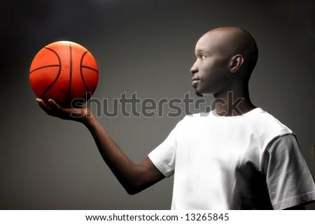 a portrait of a basket man