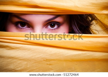A portrait of a beautiful woman with beautiful eyes