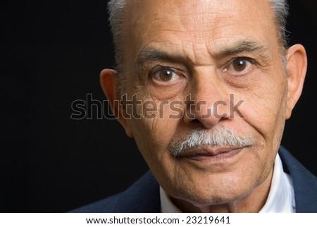 A portrait of a senior Asian man