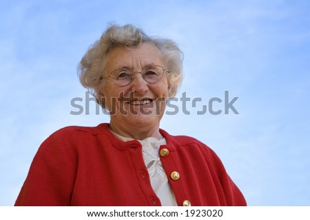 a portrait of an older lady