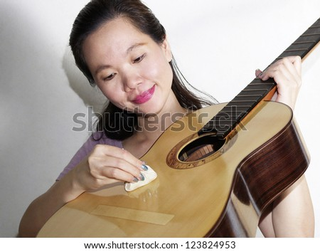 a portrait of attractive asian woman
