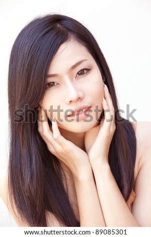 A portrait of beautiful Asian girl