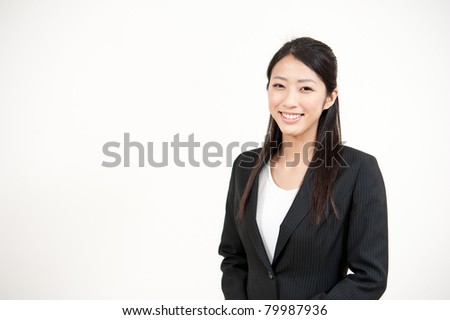 a portrait of beautiful businesswoman