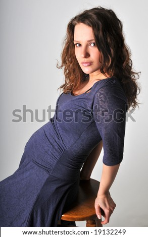 stock photo : A portrait of beautiful pregnant women