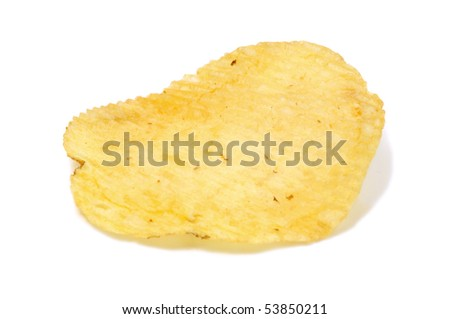 a potato chip isolated on a white background