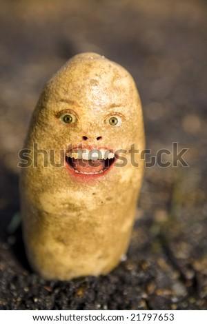 A potato head and face