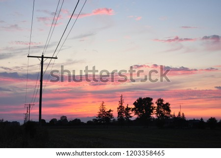 A power line silhouette #1203358465