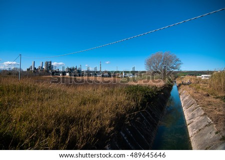 A power station in Termoli, south of Italy. #489645646