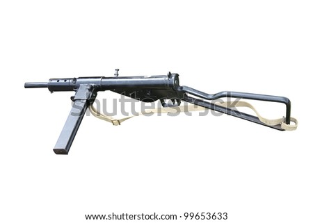 A Powerful Vintage Military Army Machine Gun.