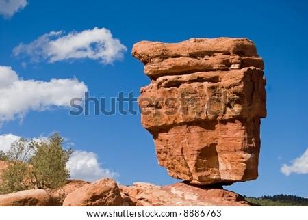 A precariously balanced rock, Garden of the Gods, Colorado Springs, Colorado.