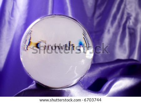 A Prediction that 'Growth' is in Your Future - stock photo
