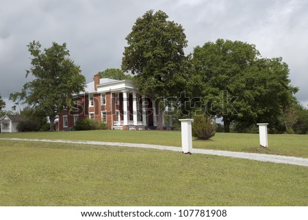 A preserved historic southern antebellum style plantation for 1800s plantation homes