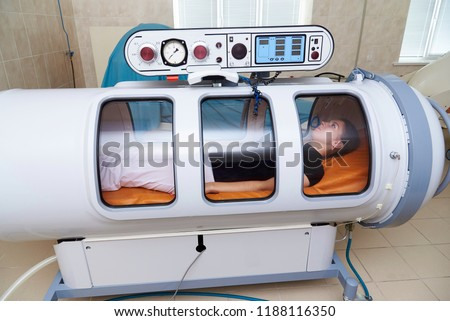 A pressure chamber is a device that saturates the body with a significant amount of oxygen. Hyperbaric oxygenation. #1188116350