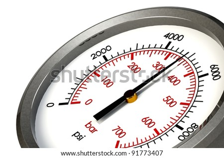 A Pressure Gauge Reading a Pressure of 5000 PSI