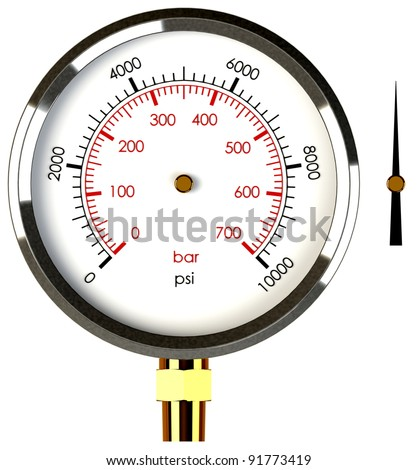 A Pressure Gauge with a Separate Needle to Drop on the Gauge