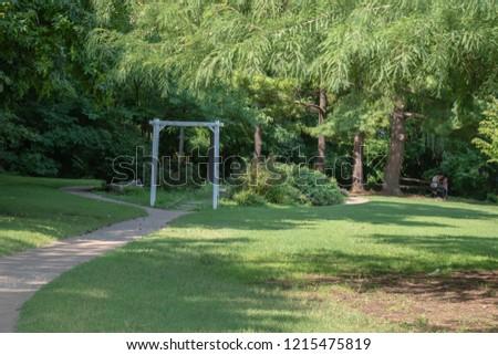 A pretty view, a pretty park, a pretty pathway.