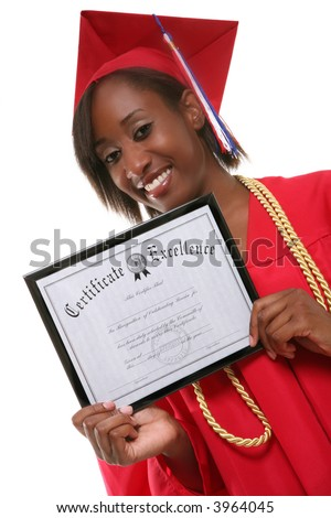 A pretty woman holding her certificate at graduation
