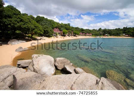 A private beach in Nkhata Bay, Lake Malawi