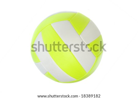 A professional leather volleyball isolated on white.
