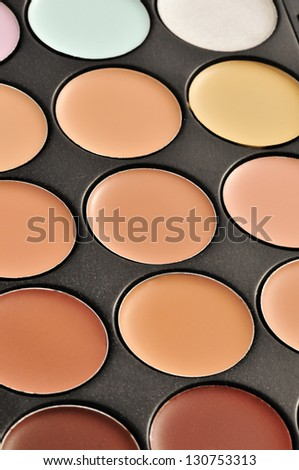 a professional makeup palette - concealers