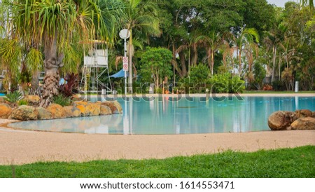A public pool and lagoon recreational area provided by the local council