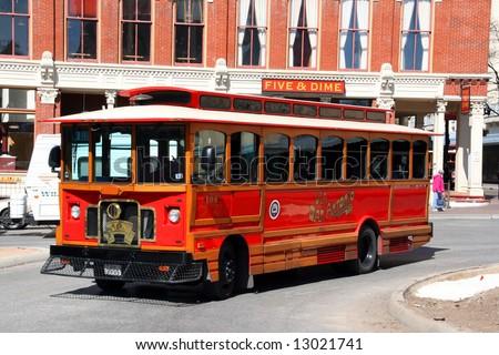 A public transportation bus in San Antonio, Texas.