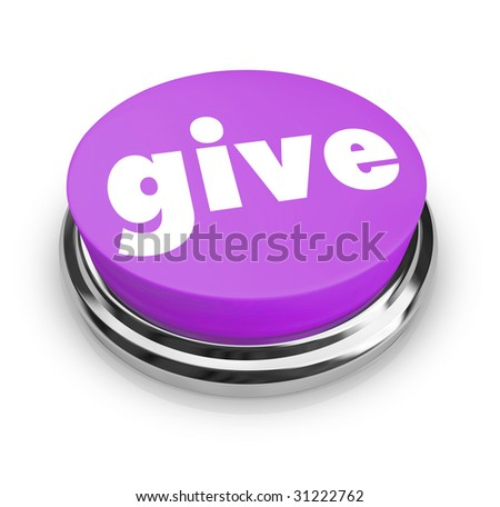 A purple button with the word Give on it