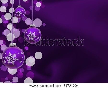 A purple christmas ball on a blue background, christmas time