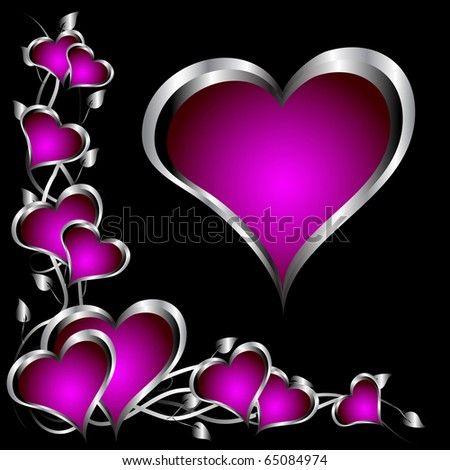 wallpaper purple and silver. stock photo : A purple hearts