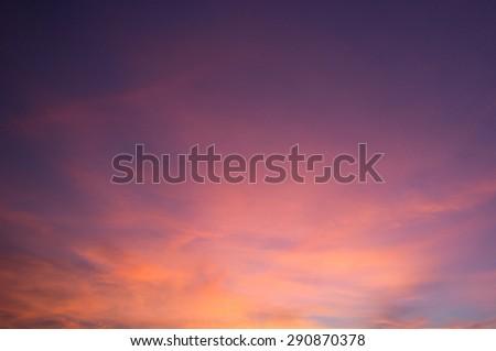A purple night sky